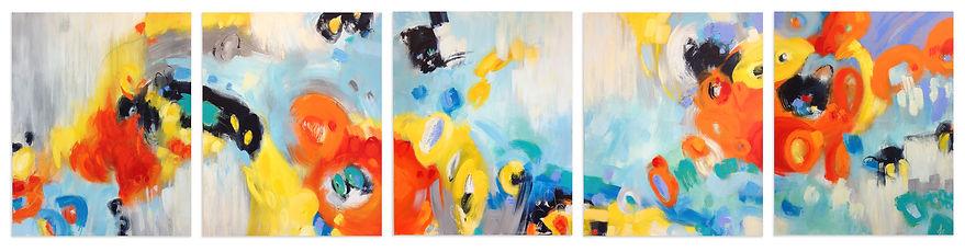 """In The Loop I - V"" by Janet Bothne"