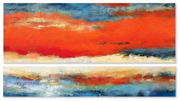 """""""Ascent Of Orange"""" by Janet Bothne"""