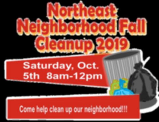 NE Fall Cleanup English Flier horizontal