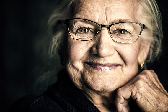 Portrait of a beautiful senior woman in