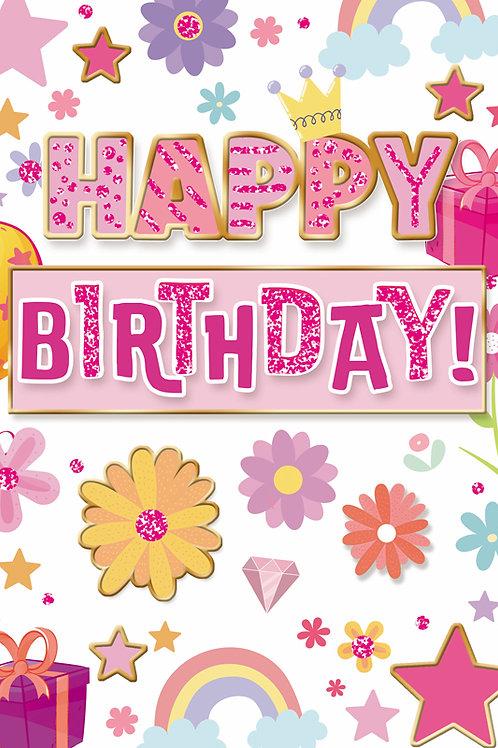 Colourful Glittery Birthday Card