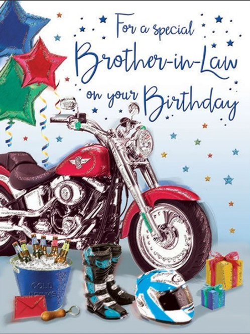 Happy Birthday Brother-in-Law Bike Card
