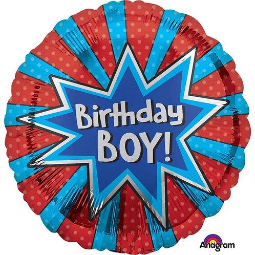 18IN BIRTHDAY BOY BURST FOIL
