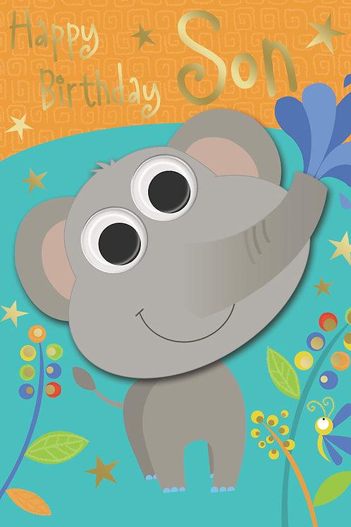 Happy Birthday Son Elephant Card