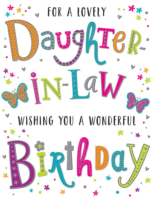 Happy Birthday Daughter-in-Law Colourful Letters Card