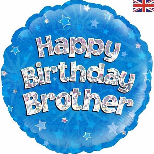 18IN HAPPY BIRTHDAY BROTHER BLUE FOIL BALLOON