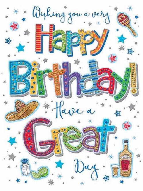 Drink & Hat Birthday Card