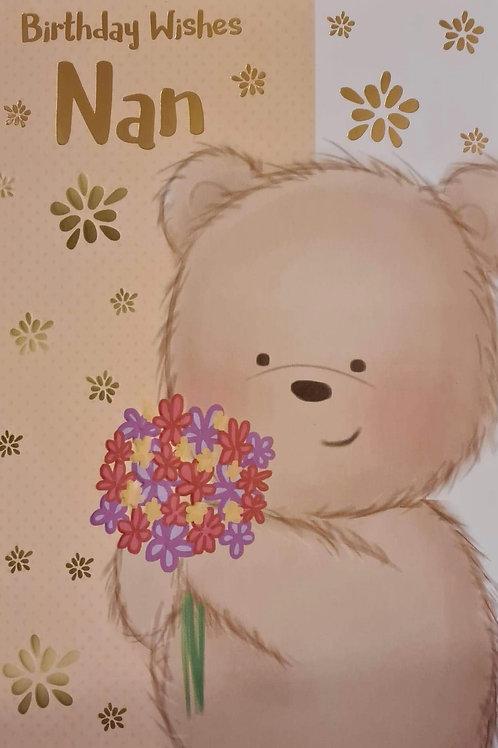 Happy Birthday Nan Teddy Card