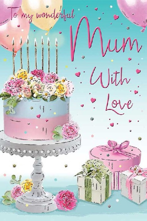 Happy Birthday Mum Cake Card