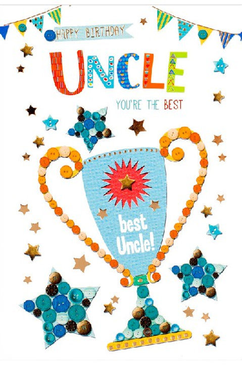 Happy Birthday Uncle Cup Card