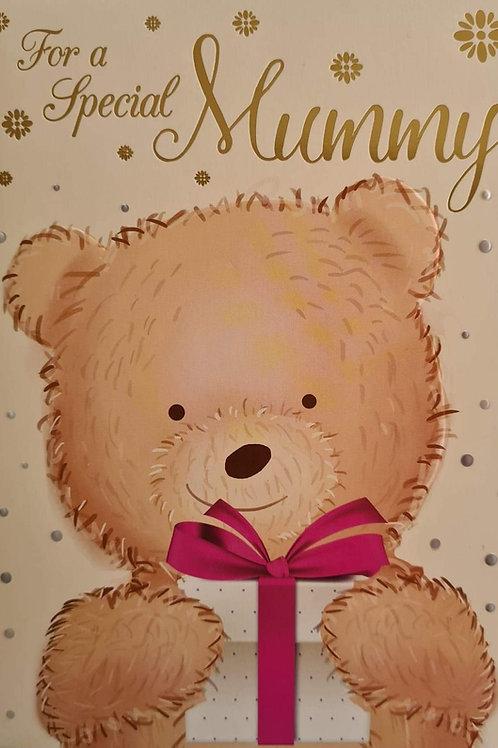 Happy Birthday Mummy Teddy With Gift Card