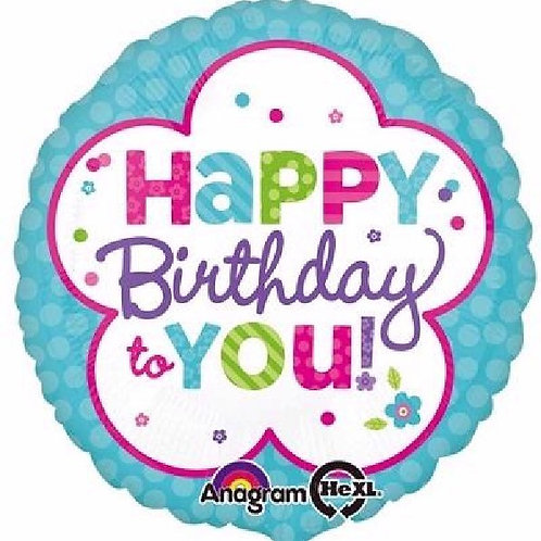 18IN PINK & TEAL BIRTHDAY FOIL BALLOON