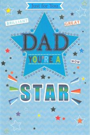 Happy Birthday Dad you're a Star Card