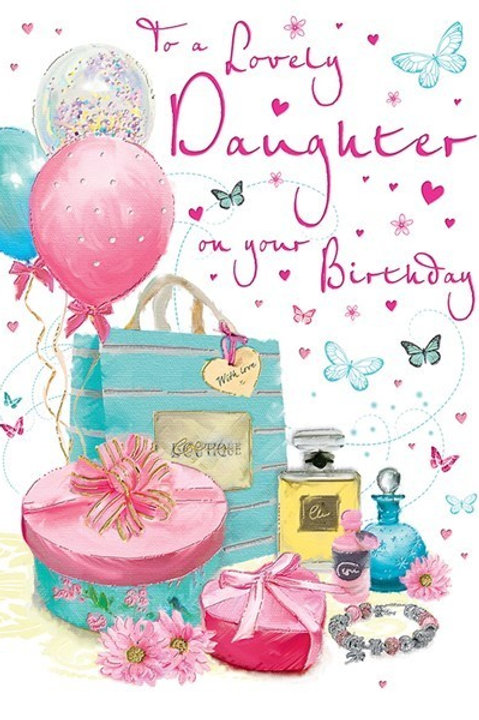 Happy Birthday Daughter Boutique Card