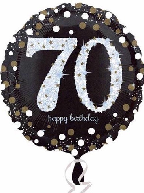 18IN 70TH BIRTHDAY GOLD SPARKLES FOIL BALLOON