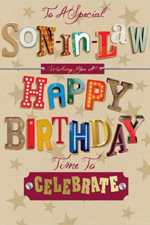 Happy Birthday Son-in-Law Card