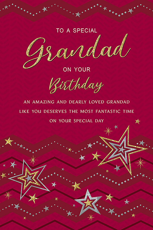 Happy Birthday Grandad with Stars Card
