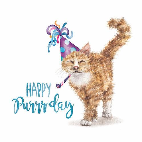 Happy Purrrday Card