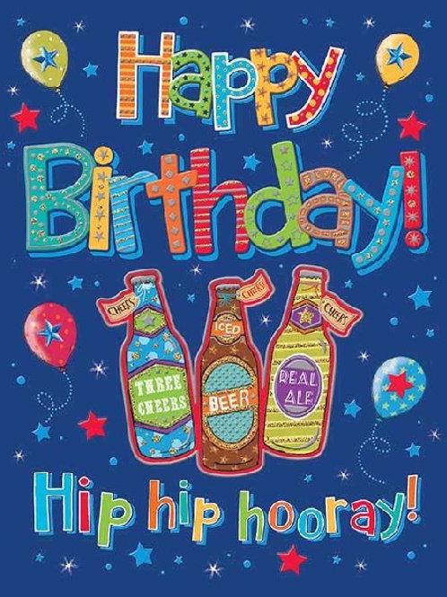 Bottle of Beer Birthday Card