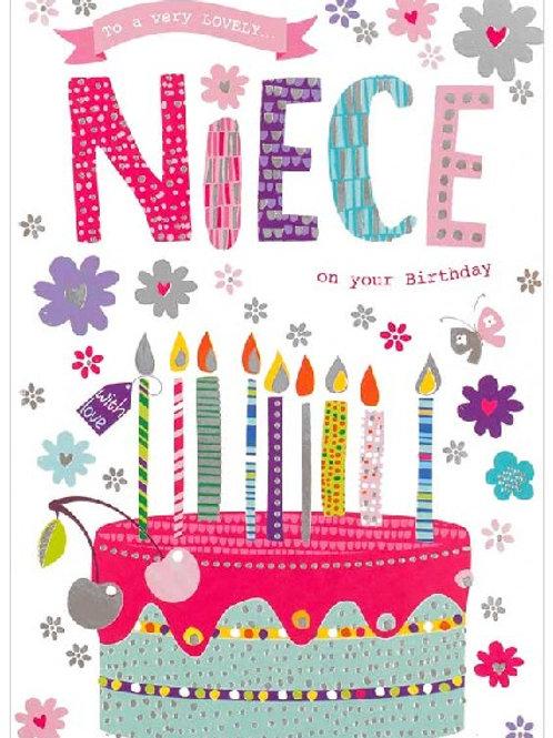 Happy Birthday Niece Birthday Cake Card