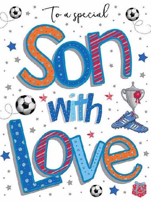 Happy Birthday Son Football Card