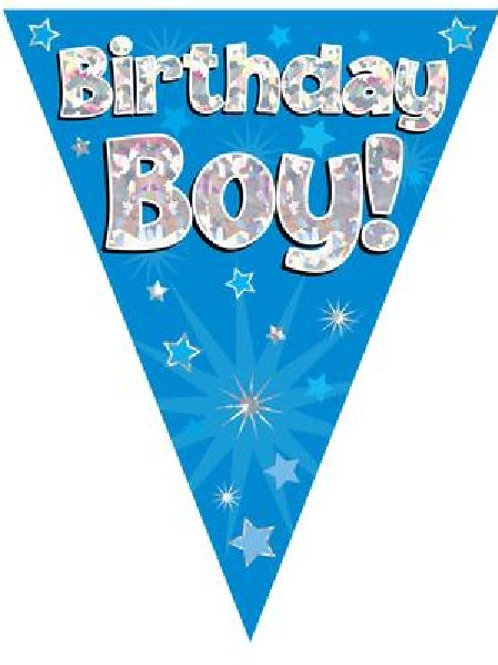 BIRTHDAY BOY BLUE BUNTING