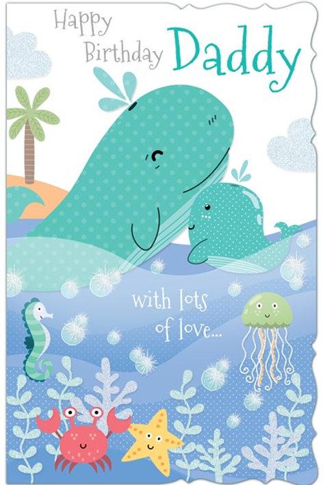Happy Birthday Dad Whales Card