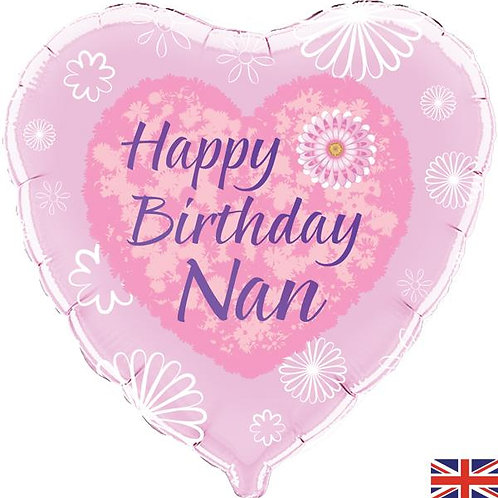 18IN HAPPY BIRTHDAY NAN BALLOON FOIL