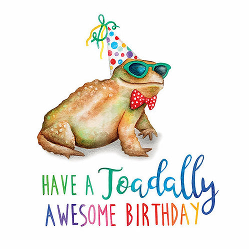 Toadally Birthday Card