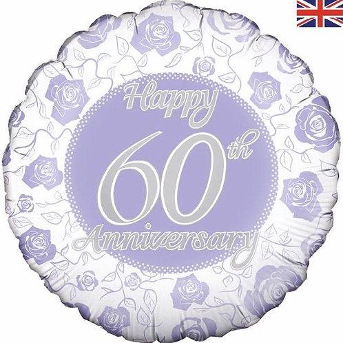 18IN HAPPY 60TH ANNIVERSARY FOIL BALLOON