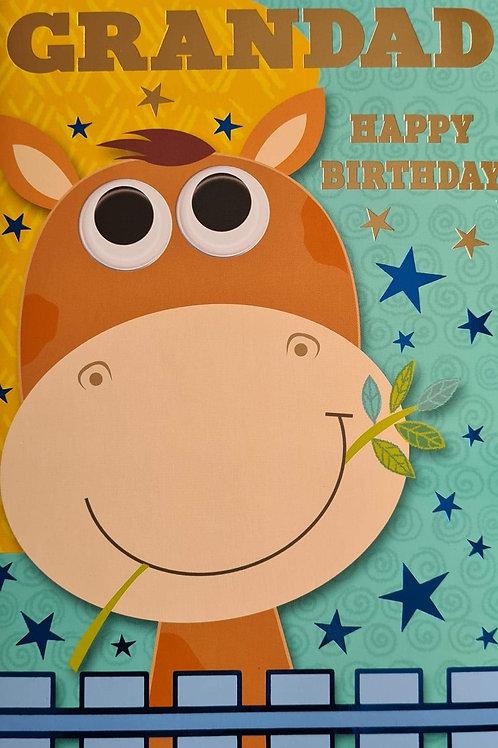 Happy Birthday Grandad Giraffe Card