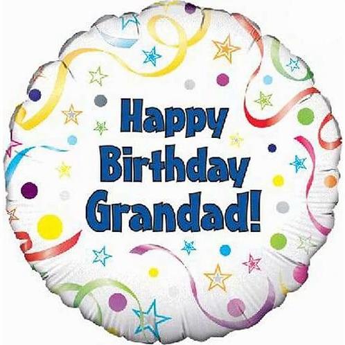 18IN HAPPY BIRTHDAY GRANDAD BALLOON FOIL