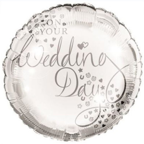 18IN ON YOUR WEDDING DAY FOIL BALLOON
