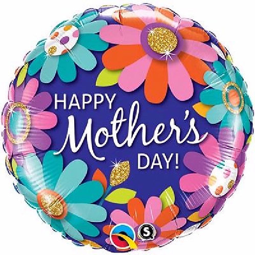 18IN MOTHERS DAY FLORAL FOIL BALLOON