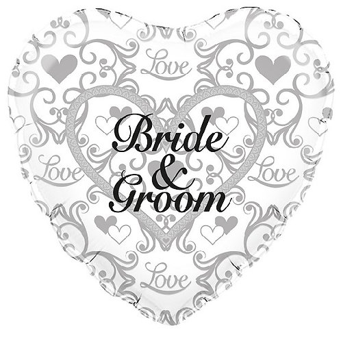 18IN BRIDE AND GROOM FILIGREE FOIL