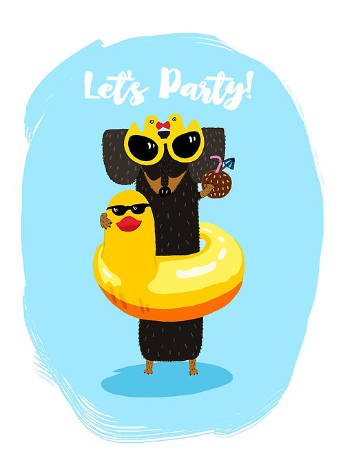 Let's Party Sausage Dog