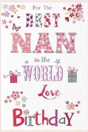 Happy Birthday Best Nan Card