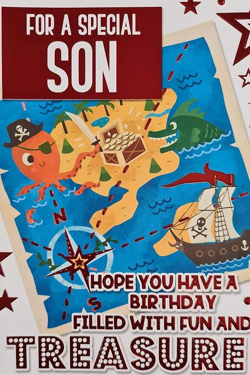 Happy Birthday Son Treasure Island Card
