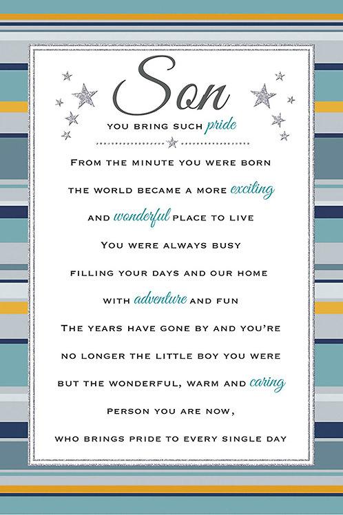 Happy Birthday Son Stars & Verse Card