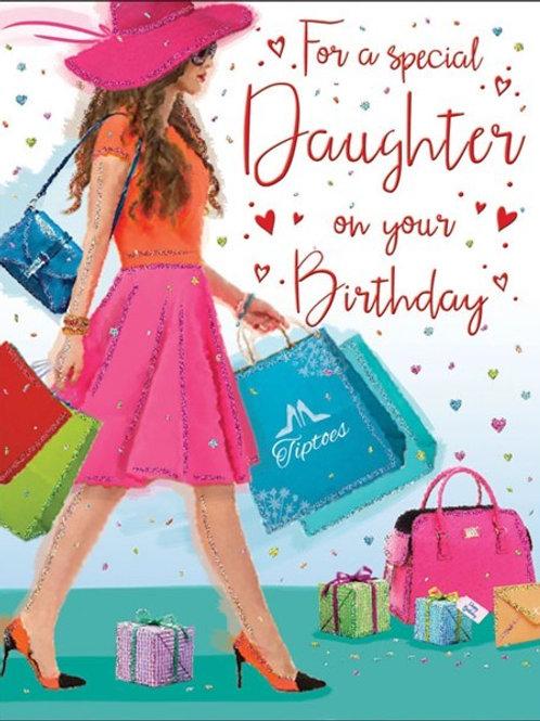 Happy Birthday Daughter Shopping Card