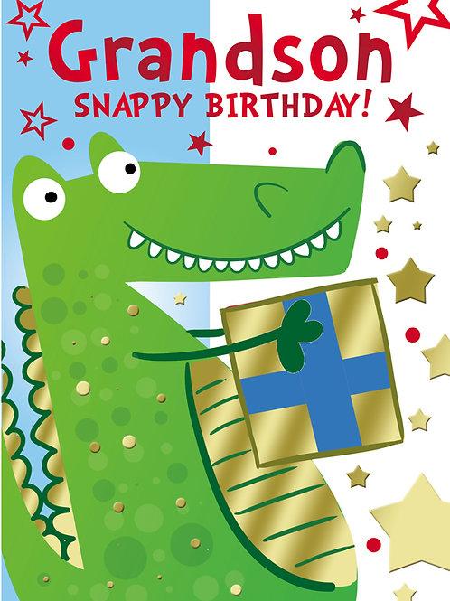 Snappy Birthday Grandson Card
