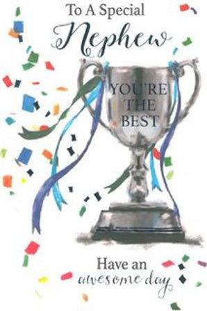 Happy Birthday Nephew Cup Card
