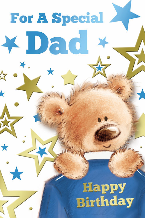Happy Birthday Dad Teddy Card