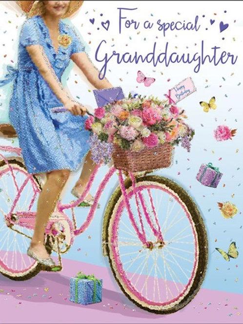 Happy Birthday Granddaughter Bike Card