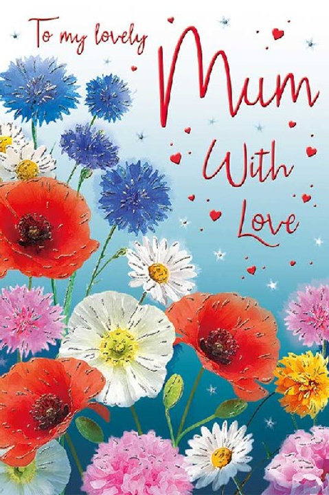 Happy Birthday Mum Flowers Card