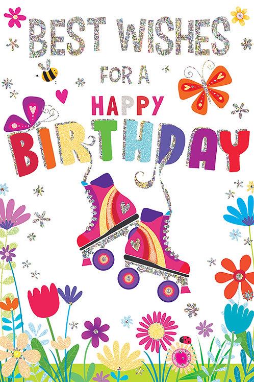Roller Skates Birthday Card