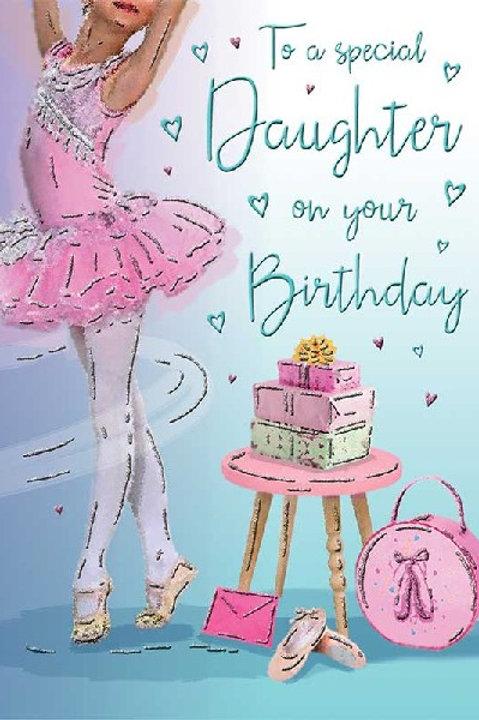 Happy Birthday Daughter Ballerina Card