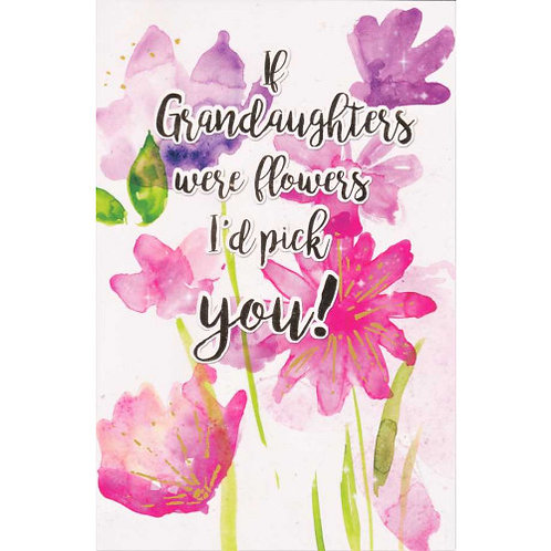 Happy Birthday Granddaughter Flowers Card