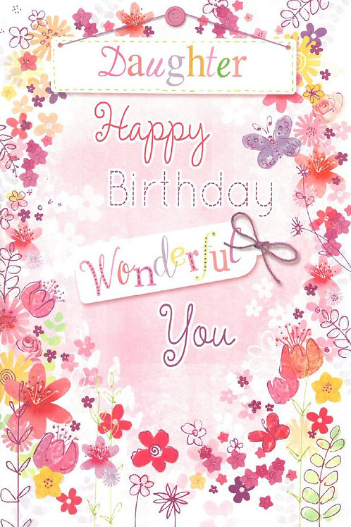 Happy Birthday Daughter Wonderful Butterfly Card