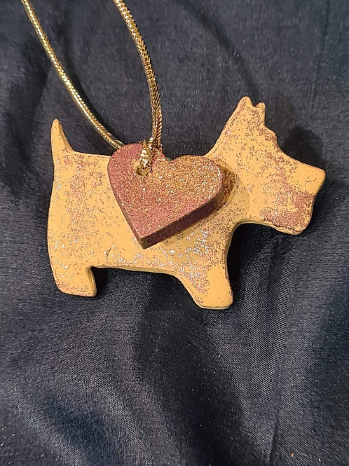 Westie with loose Heart - Hanging